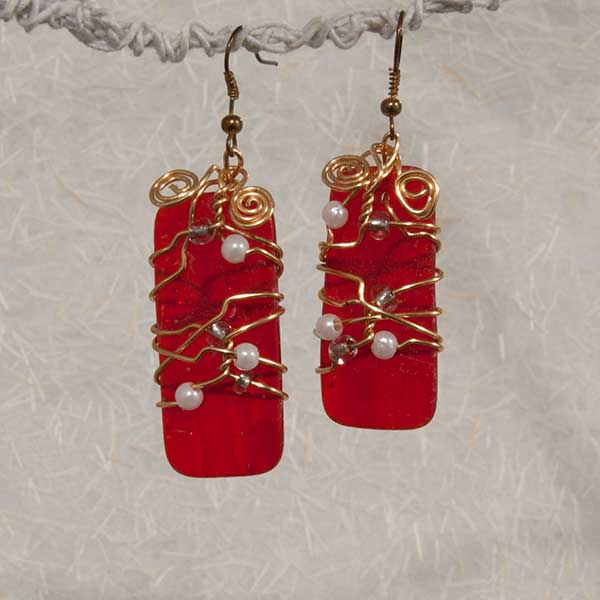 Red & Gold Earrings